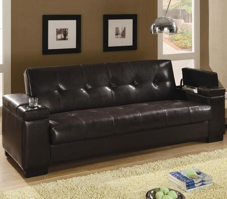 Coaster 300143  Convertible Faux Leather Sofa