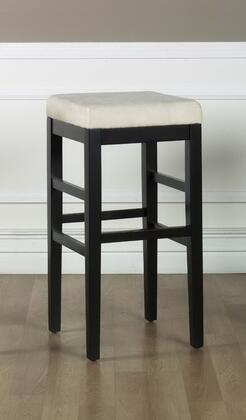 "Armen Living LCSTBAMFX30 30"" Sonata Stationary Bar stool with 1.8 Density Foam, Ebony Wood Frame and Microfiber Upholstery in"