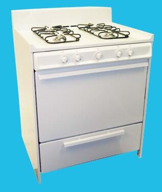 "Haier HGRP301AAWW 30"" Gas Freestanding Range with  Broiler in White"