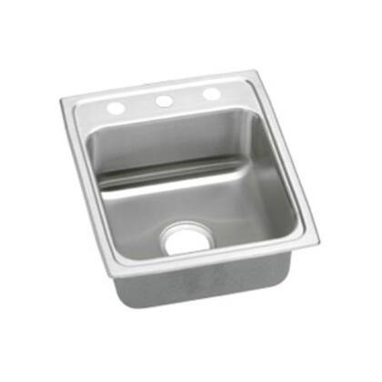 """Elkay LRAD1720650 17"""" Top Mount Self-Rim Single Bowl ADA Compliant 18-Gauge Stainless Steel Sink"""