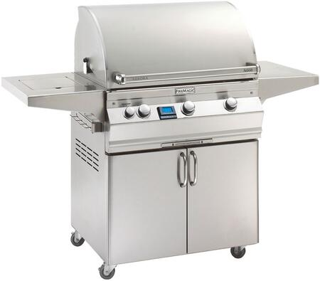 "FireMagic A660S5A1X62 Aurora 62.25"" Portable Grill with All Infrared Burners, Side Burner, and Digital Thermometer"