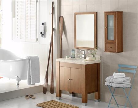 """Ronbow 032531-3-F Devon 31"""" Wood Vanity Cabinet with Double Wood Door and Adjustable Shelf:"""