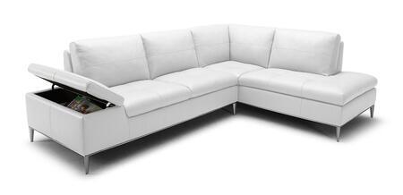 VIG Furniture VGKK1788WHT Divani Casa Gardenia Series Sofa and Chaise Sofa