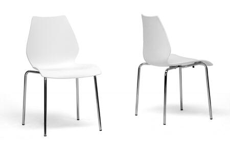 Wholesale Interiors DC7AWHITE2 Overlea Series  Dining Room Chair
