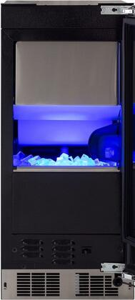 "Marvel MP15CP 15"" Undercounter Ice Maker with 39 lb. Daily Ice Production, Intuit Integrated Controls, Soft Close Hinge and Sapphire Illuminice Blue LED Lighting, in Panel Ready with"