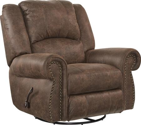 """Catnapper Westin Collection 61050-6 41"""" Power Glider Recliner with Faux Leather Upholstery, Rolled Arms, USB Port and Decorative Nailhead in"""
