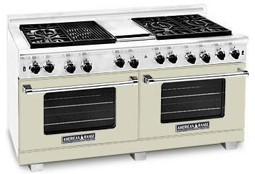 American Range ARR6062GDBG Heritage Classic Series Natural Gas Freestanding Range with Sealed Burner Cooktop, 4.8 cu. ft. Primary Oven Capacity, in Beige