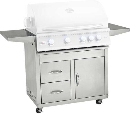 Summerset Grills CARTSIZPROx Sizzler Pro Series Freestanding Cart for X Grill, in Stainless Steel