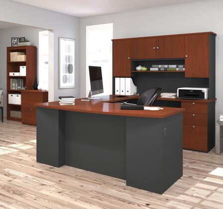 Bestar Furniture 8185039 Manhattan Series Hutch  Veneers Desk