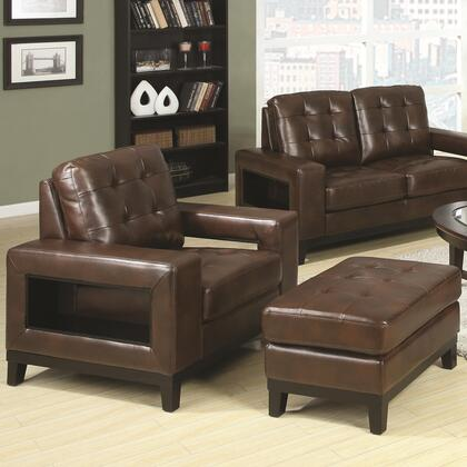 Coaster 504434 Paige Series Contemporary Bonded Leather Ottoman