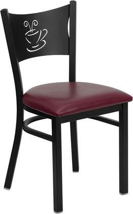 Flash Furniture XUDG60099COFBURVGG Hercules Series Contemporary Vinyl Metal Frame Dining Room Chair