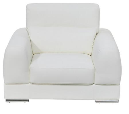Diamond Sofa chicagochairw Chicago Series  with Bonded Leather Frame in White