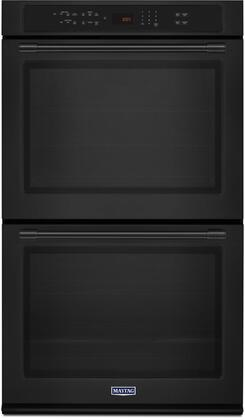 "Maytag MEW9627Fx 27"" Double Wall Oven with True Convection, 8.6 cu. ft. Total Capacity, Precision Cooking System, Variable Broil,  True Convection with Fan, and Incandescent Light"