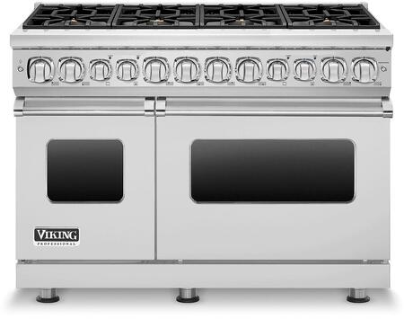"Viking VDR7488LP 48"" Professional 7 Series Dual Fuel Liquid Propane Range with 8 Elevation Sealed Burners, ViChrome Griddle and Digital Meat Thermometer, in"