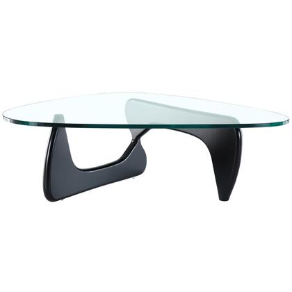 """Modway EEI-114-X Triangle Coffee Table with Solid Wood Base, 3/4"""" Tempered Glass, Durable Construction, and Easy to Clean Surface"""