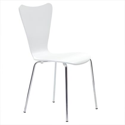 Modway EEI537WHI Ernie Series Dining Not Upholstered Metal Frame Accent Chair