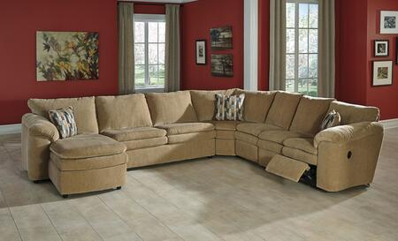 Signature Design by Ashley Coats 44100S5 5-Piece Sectional Sofa with X Arm Corner Chaise, Armless Loveseat, Wedge, Armless Chair and X Arm Loveseat in Dune