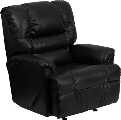 Flash Furniture HM500MARSHALLBLACKGG Contemporary Leather Wood Frame Rocking Recliners