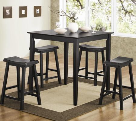 Coaster 15029 Bruton Pub 5 PC Set in  (Table and 4 Bar stools) by Coaster Co.