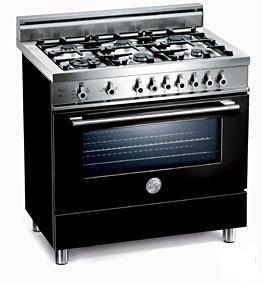 """Bertazzoni Professional Series X366PIRTTLP 36"""" Freestanding Dual-Fuel-Natural Gas Range With 6 Sealed Burners, 4.0 Cu. Ft. European Convection Oven, Pyrolytic Self-Clean,Temperature Probe, 240/208 Volts, In"""