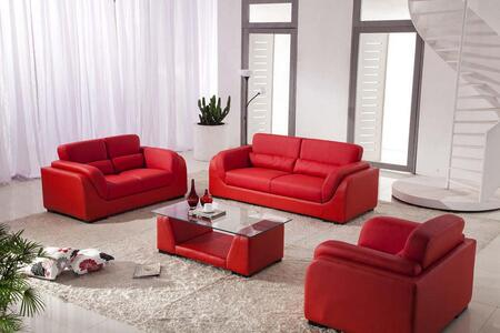 VIG Furniture VGDM2929RBL Modern Bonded Leather Living Room Set