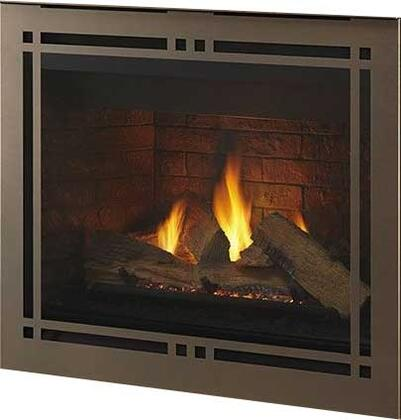 "Majestic DBDV36PLATIx 41"" Meridian Platinum Series Fireplace with 36"" Viewing Area and Intellifire Plus Ignition System"