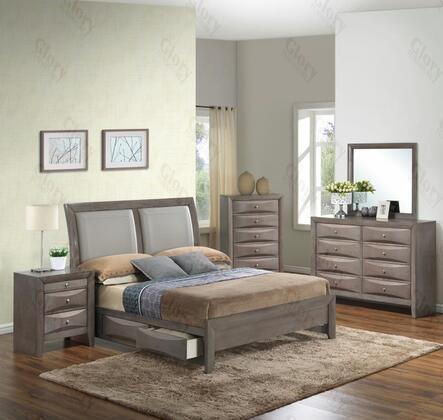 Glory Furniture G1505DDQSB2DMN G1505 Queen Bedroom Sets