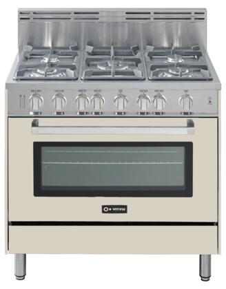 "Verona VEFSGG365AW 36"" Gas Freestanding  Appliances Connection"