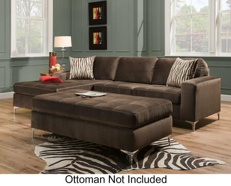 Chelsea Home Furniture 187400 Zaire 2 PC Sectional with Right Arm Facing Lovesest, Left Arm Facing Chaise, Sewn Toss Pillows and Fabric Upholstery in