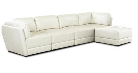 Klaussner GENERACORNCW Genera Series Modular Faux Leather Sofa