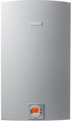 """Bosch Therm 830ES 18"""" Gas Tankless Water Heater With 175,000 Max Input BTU, Non Condensing Technology, 150 PSI Max Water Pressure, Energy Star Rated, Electronic Ignition, In Grey"""
