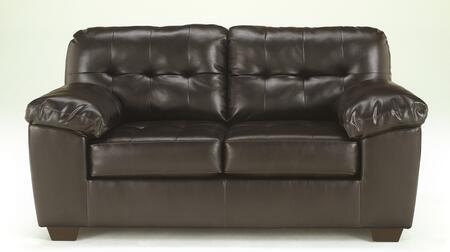 Milo Italia MI-2192ETMP Patricia DuraBlend Loveseat with Pillow Padded Arms, Button Tufted Cushions and 2 Loose Seat Cushions in