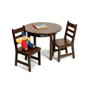 Lipper Kids 534X Lipper's Rectangular Table with 2 Chairs
