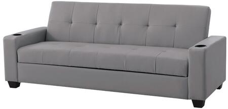 Glory Furniture G176S Buxton Series Convertible Faux Leather Sofa