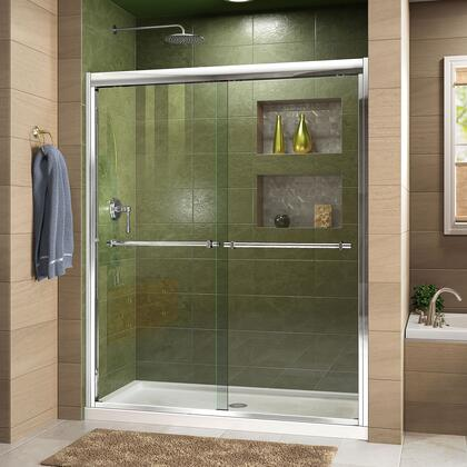 Duet Shower Door RS43 C Base CenterDrain