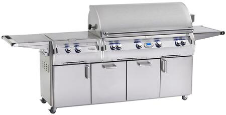FireMagic E1060S-4E1X-51 Echelon Diamond Series X Grill, 1056 sq. in. Cooking Area With Power Burner On Cart: Stainless Steel