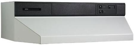 "Broan 88000 Series 8842X 42"" Under Cabinet Range Hood with 360 CFM Internal Blower, Infinite Speed Slide Controls, Standard Heat Sentry and Convertible to Recirculating In"