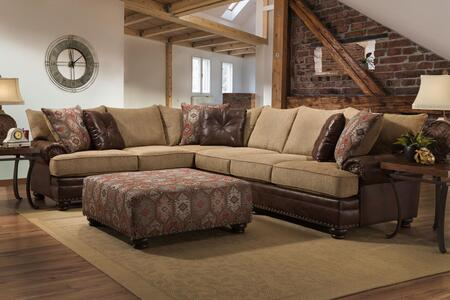 Chelsea Home Furniture Celeste 738649 2PC GENS 22918%20Celeste%20Sectional%20Yellowstone%20Chocolate