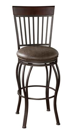 American Heritage 130909PP Torrance Series Residential Bonded Leather Upholstered Bar Stool