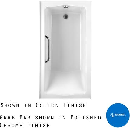 Toto ABY782P12YPNX Clayton Series Tile-In Soaker Bathtub with Acrylic Construction, Slip-Resistant Surface, and Polished Nickel Grab Bar, Sedona Beige Finish