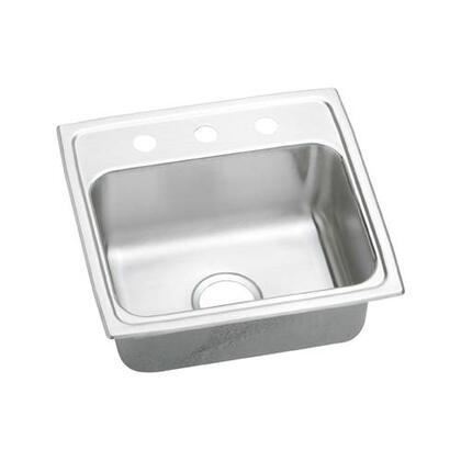 "Elkay LRAD1918550 19"" Top Mount Self-Rim Single Bowl 18-Gauge ADA Compliant Stainless Steel Sink"