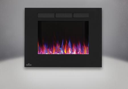 Allure 32 in. Fireplace   Orange and Blue Flame