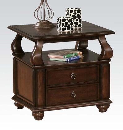 Acme Furniture 80012 Amado Series Modern Wood Rectangular 2 Drawers End Table
