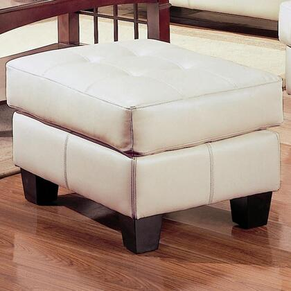 Coaster 501694 Samuel Series Contemporary Bonded Leather Wood Frame Ottoman