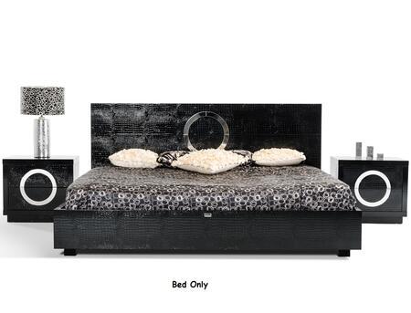 VIG Furniture VGUNAW223-180-BLK A&X Ovidius Modern Black Crocodile Bed
