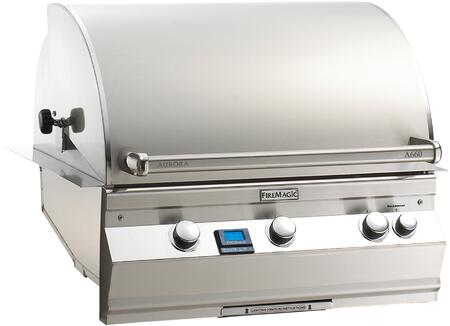 """FireMagic A660I6L1X Aurora 36.5"""" Built-In Grill with E-Burners, Back Burner, One Infrared Burner, and Digital Thermometer"""