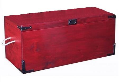 2 Day Designs 162 Large Stacking Trunk with Classic Iron Corner Brackets and Rope Handles in