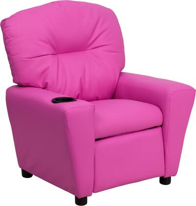 Flash Furniture BT7950KIDHOTPINKGG Childrens Vinyl Wood Frame  Recliners
