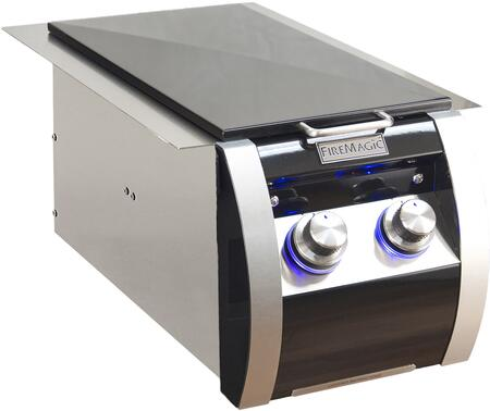 FireMagic 32814Hx Echelon Black Diamond Series Double Side Burner, in Black