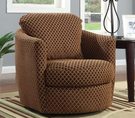 Coaster 900405 Accent Seating Series Armchair Fabric Wood Frame Accent Chair